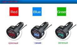 3 в 1 в прикуриватель - зарядка, вольтметр, термометр