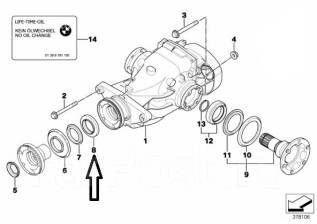 Сальник хвостовика редуктора моста. BMW: X3, 3-Series Gran Turismo, X5, X4, Z3, Z4, 5-Series, 3-Series, X6, X1, 6-Series, 1-Series, 4-Series, 5-Series...