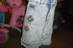 Юбки джинсовые. Рост: 122-128 см