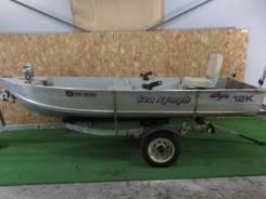 Алюминиевая лодка SEA Nymph 12K с телегой без пробега по водам России. Год: 2010 год, длина 3,68м., двигатель подвесной