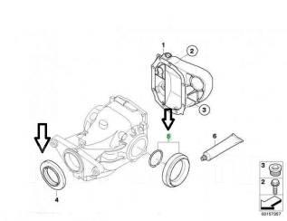 Сальник привода. BMW: 3-Series Gran Turismo, X3, X5, X4, Z3, Z4, 3-Series, 5-Series, X6, 6-Series, 1-Series, 4-Series, 5-Series Gran Turismo, 7-Series...