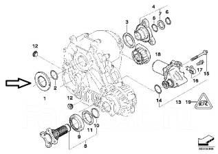 Сальник раздатки. BMW: X3, 3-Series Gran Turismo, X5, X4, 3-Series, 5-Series, X6, X1, 6-Series, 1-Series, 4-Series, 5-Series Gran Turismo, 7-Series, 2...