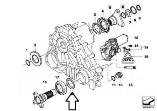 Сальник раздатки. BMW: 6-Series, 5-Series, X3, X6, 3-Series, 7-Series, X5