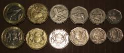 Набор монет 6шт. Ботсвана 2013год. Фауна. UNC