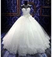 Свадебные платья А-силуэта.