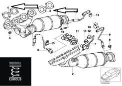 Прокладка выпускного коллектора. BMW 5-Series, E34, E39 BMW 8-Series BMW 7-Series, E66, E38
