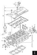 Прокладка клапанной крышки. Volkswagen Passat, 3B3, 3B6 Audi: A4 Avant, A6 Avant, S6, A4, A6, S4 Двигатели: ACK, ADP, AFB, AGE, AGZ, AJM, AKN, ALG, AL...
