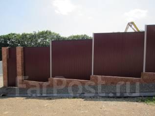 Забор. Подпорная стенка. Ворота