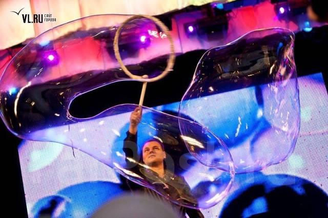 Шоу мыльных пузырей.