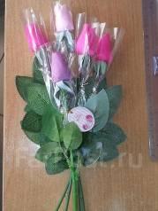 Розочка- мыло. Подарок к 14 февраля и 8 марта.
