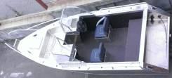 Алюминиевый Катер Уралъ 430 FISH, новый. Год: 2016 год, длина 4,50м., двигатель подвесной, 50,00л.с., бензин