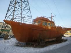 Продаю корпус стального катера переоборудоаванный 111 проект . Год: 1987 год, длина 13,60м.
