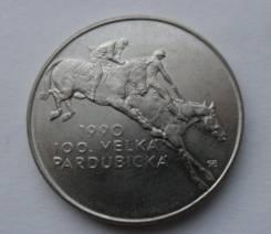 Чехословакия 100 крон 1990 год Серебро