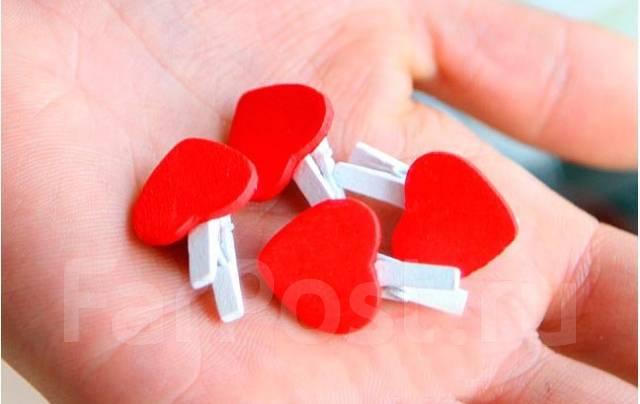 Прищепки с сердцем