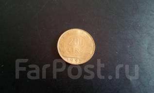Италия. 200 лир 1995 года.
