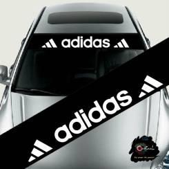 d4ce487c Дефлектор лобового стекла. 500₽. Наклейка на козырек лобового стекла Adidas