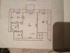 2-комнатная, Октябрьская. с. Покровка, Центр, частное лицо, 40 кв.м. План квартиры
