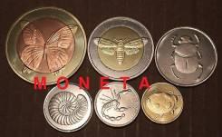 Набор монет 6шт. 2013год. Annobon. Фауна. Скорпион, бабочка, жук. UNC