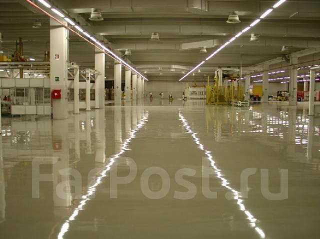 Устройство защитных полимерных и эпоксидных покрытий бетонных полов.