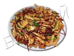 Куриное филе соломкой жареное с красным перцем, ароматное
