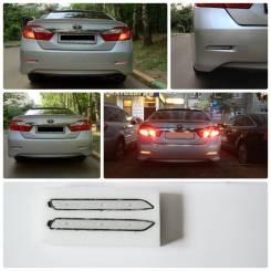 Светодиодные вставки (катафоты) белые в задний бампер Camry V50