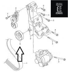 Обводной ролик. Audi: A6, A4, S6, A6 Avant, A4 Avant