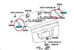 Амортизатор двери багажника. Toyota Prius, 2030
