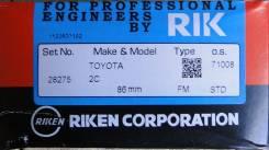 Кольца поршневые. Toyota: Vista, Carina, Lite Ace, Corona, Camry, Town Ace, Master Ace Surf, Carina II, Model-F Двигатели: 2CT, 2CTL, 2CL, 2C, 4AL, 2C...