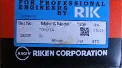 Кольца поршневые. Toyota: Hiace, Toyoace, Quick Delivery, 4Runner, Land Cruiser, Hilux, Regius Ace, Land Cruiser Prado, Dyna Двигатели: 5LE, 3L, 5L, 1...