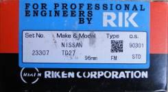 Кольца поршневые. Nissan: Datsun, Homy, Caravan, Datsun Truck, Atlas Двигатели: QD32, TD27