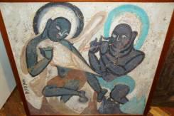 Уникальная фреска с танцующим Буддой VII-VIIIвв. из Тибета. Оригинал