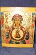 Образ Матери Божьей Знамение (Оранта) с предстоящими святыми. XIX век. Оригинал