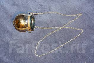 Старинная лампада на цепочке в стиле Модерн. Россия, конец XIX века. Оригинал