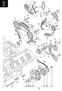Натяжитель цепи. Audi: A6 allroad quattro, A8, A4, S6, Q7, R8, A6, S8, RS4, S4 Двигатели: ASB, AUK, BNG, BPP, BSG, ASE, ASN, BBJ, BDX, BFL, BFM, BGK...