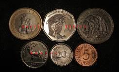 Набор монет 6 шт. Маврикий. биметалл, UNC.