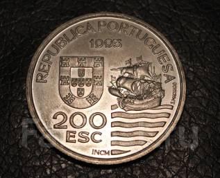 200 эскудо 1993 год. Португалия . парусник.