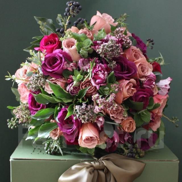 Дизайнерские букеты цветов фото