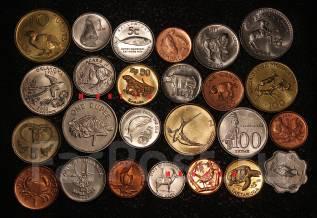 Набор монет . Фауна разных стран 25 шт.