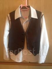 Модная рубашка с жилеткой. Рост: 104-110 см