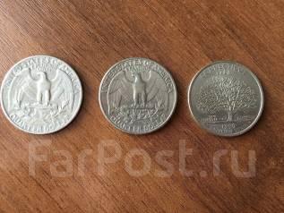 Три монеты Quarter Dollar