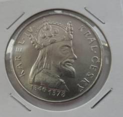 Чехословакия 100 крон 1978 Карл IV Серебро