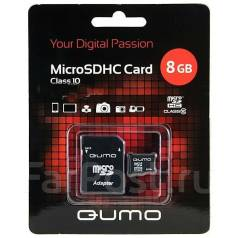MicroSD. 8Гб, интерфейс Micro Secure Digital.