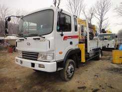 Hyundai Mega Truck. Продам бортовой грузовик с манипулятором Hyundai MEGA Truck, 6 606куб. см., 5 000кг.