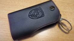 Кожаный чехольчик для ключа PORSCHE (lb-025)