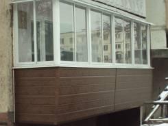 Установка и отделка балконов, окон.