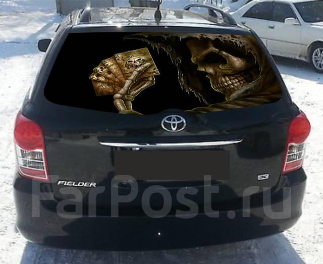 надписи на заднее стекло автомобиля фото
