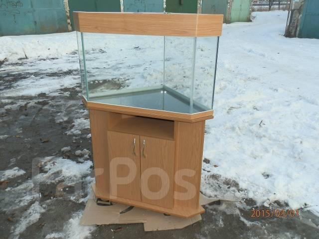 аквариум угловой с тумбой фото
