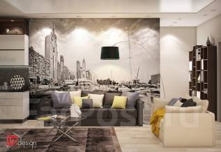 """Присутствие легкой горизонтальной текстуры от Студии """"Ин Дизайн"""". Тип объекта квартира, комната, срок выполнения месяц"""