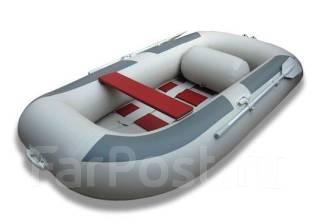 Лодка ПВХ Комфорт 270, серая. длина 2,65м.