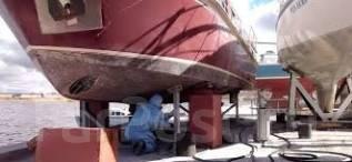 Очистка корпуса катеров, яхт снятия необрастайки.